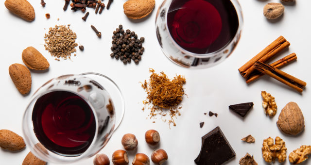 Flavours in a wine