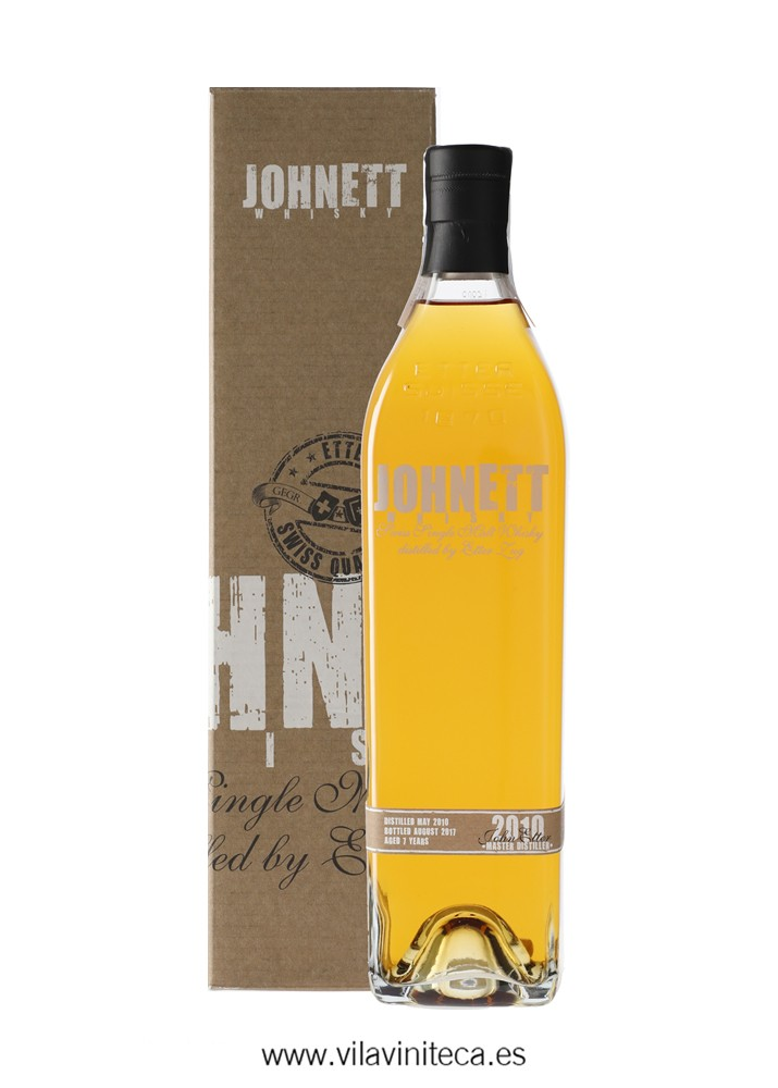 JOHNETT 2010 swiss single malt whisky 7 years