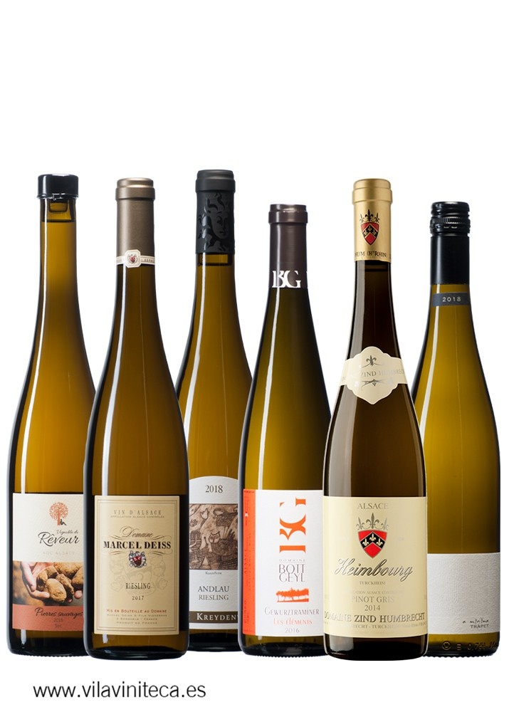 "Selection ""El Club"" October 2019: A large selection of biodynamic white wines from Alsace"